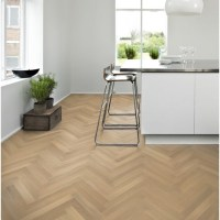 Kahrs Oak Herringbone AB White Matt Lacquered