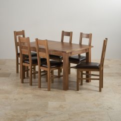 Suede Dining Table Chairs Patio Recliner Chair Rushmere Extending In Rustic Oak 43 6 Leather