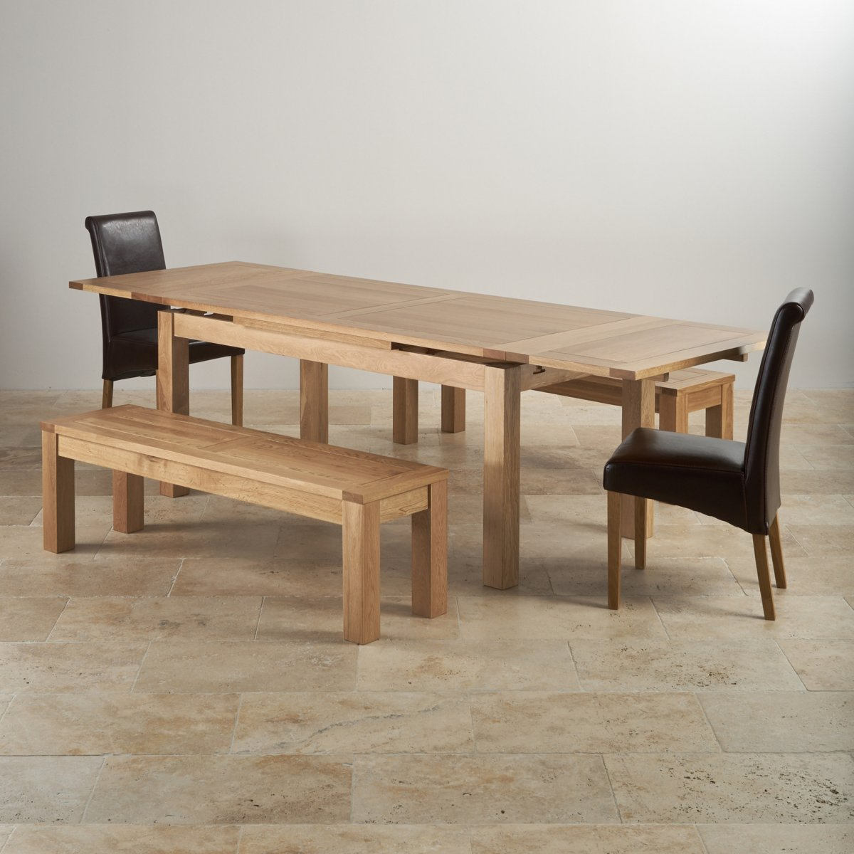 2 Chair Dining Table Dorset Dining Set In Oak Dining Table 43 2 Benches And 2 Chairs