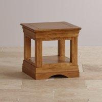 French Farmhouse Side Table in Rustic Oak | Oak Furniture Land