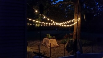Patio, after, at night