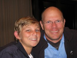 Son and Dad - Jarred and Gary Wels