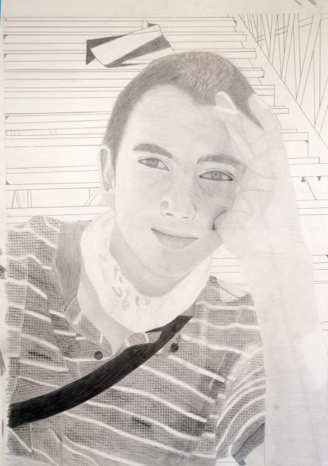 Gr 10 self portraits (7)
