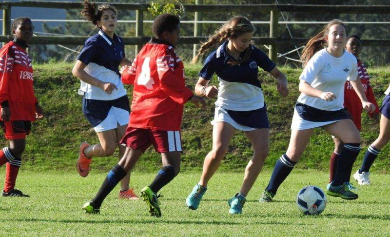 Oakhill Girls Soccer Team vs Percy Mdala (Kara Vermeulen eye on the ball) (Copy)