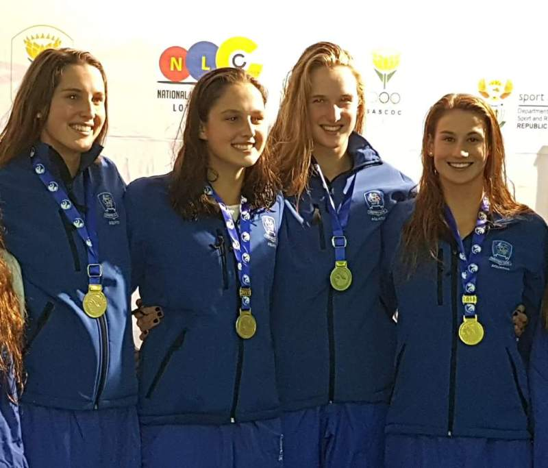 Aimee Canny wins gold at Senior National 100m freestyle relay - Copy