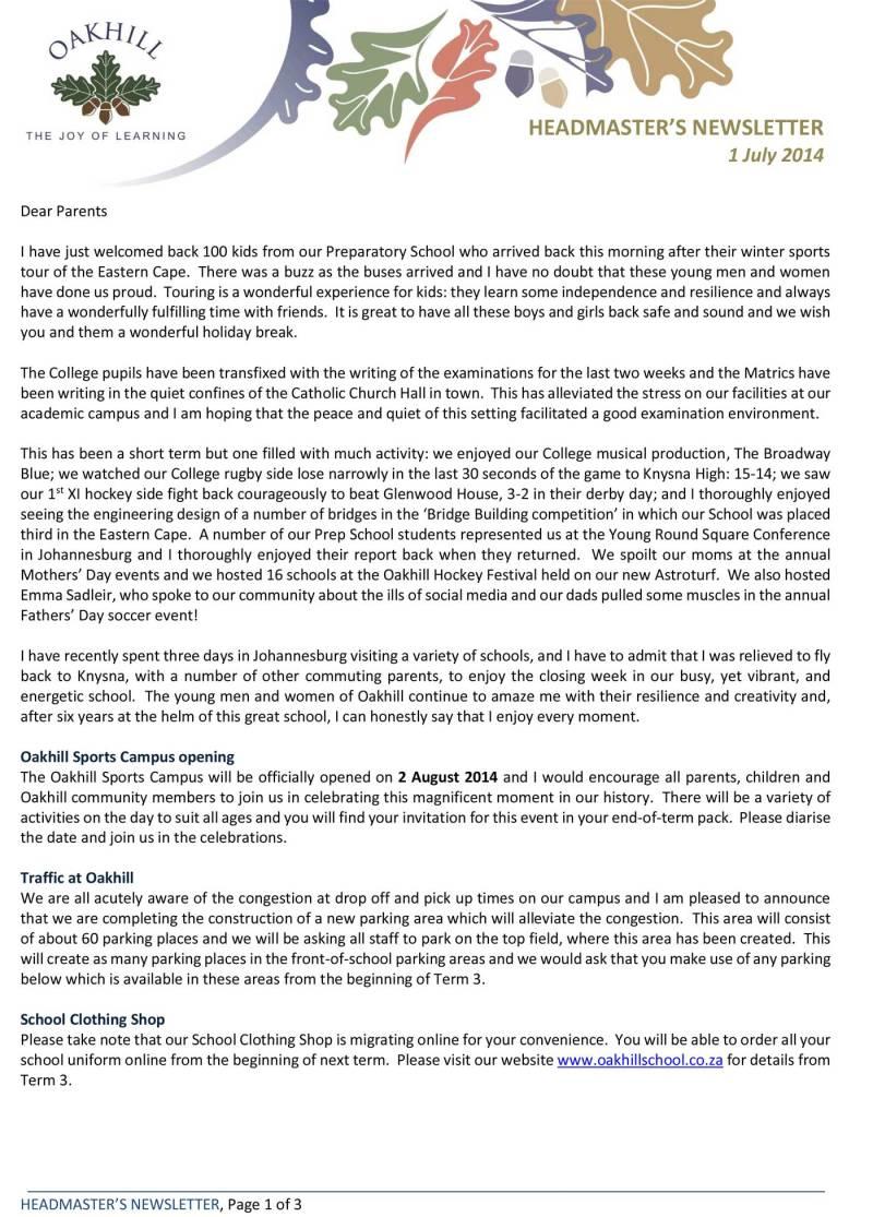 Headmaster's-Newsletter-140701-1