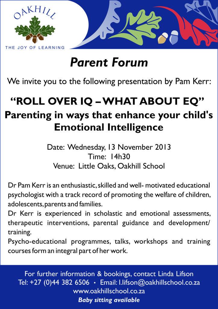 Oakhill.Parent.Forum_A4.Poster