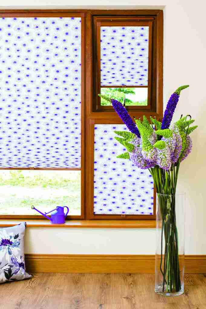patterned perfect fit pleated blinds