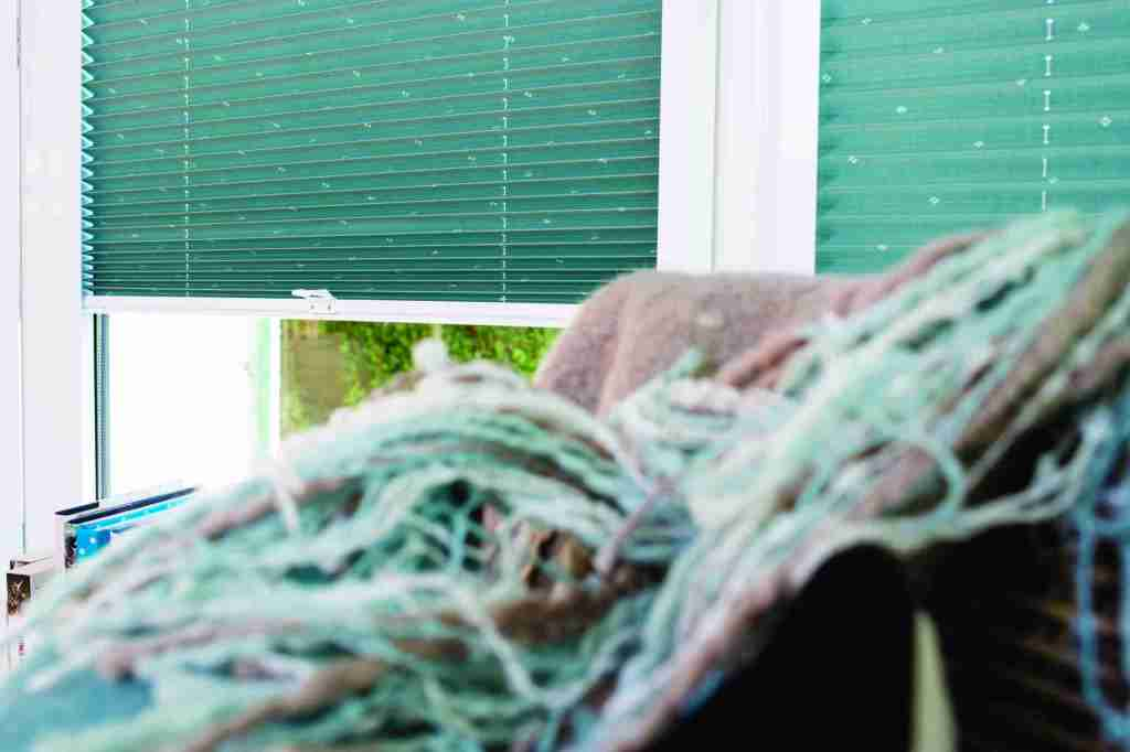 green perfect fit pleated blinds