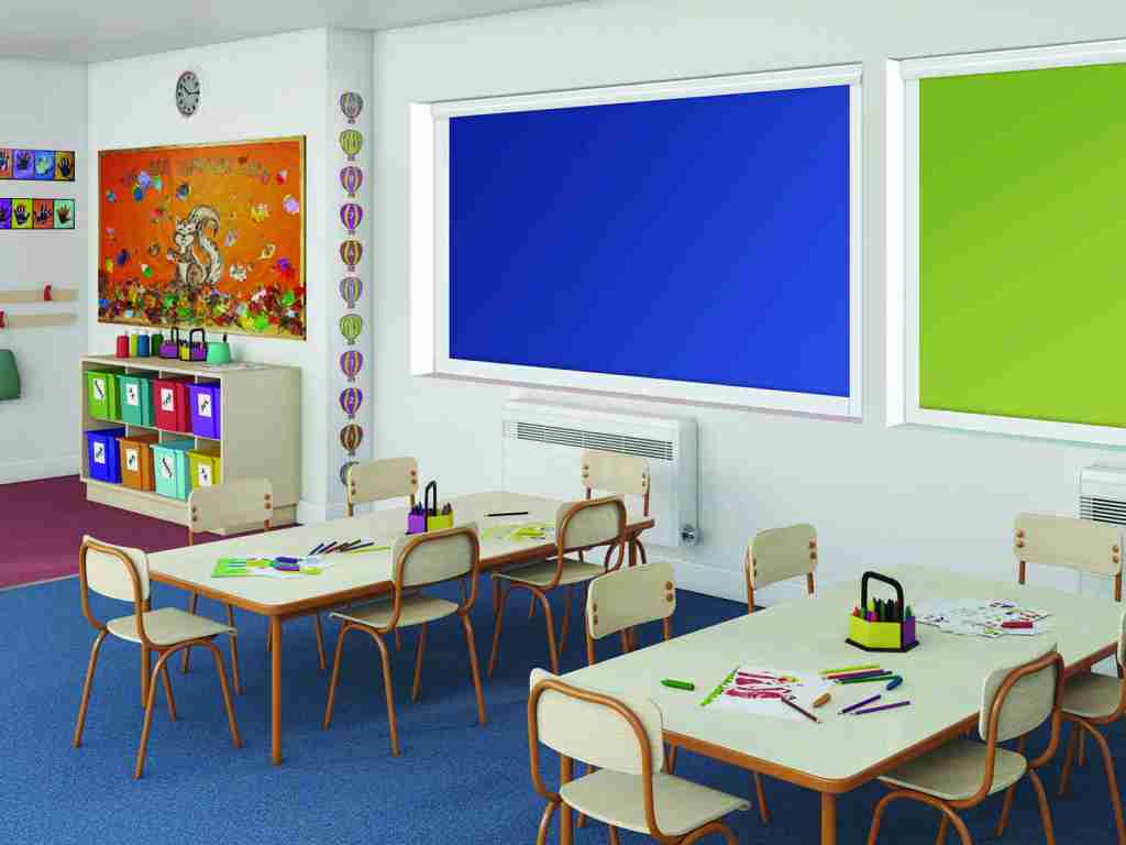 block colour roller blinds