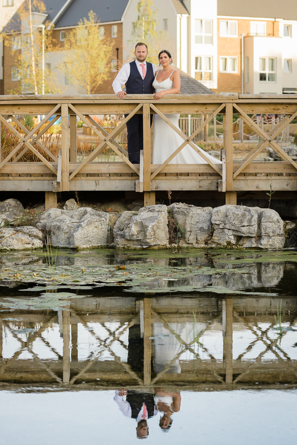 Bride and groom's portraits at the wedding reception | Greenhithe Wedding Photographer | Oakhouse Photography