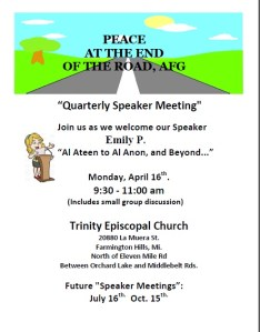 "Open Talk - ""Alateen to Al-Anon, and Beyond..."" @ Trinity Episcopal Church 