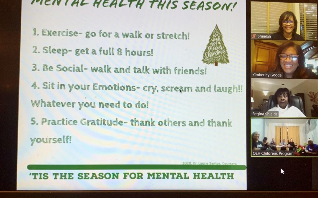 "HHS Facet Committee ""Mental Health During the Holidays"" Program with Elizabeth House"