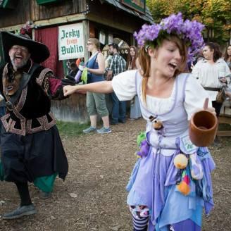 Fair goers enjoying their time in the village!