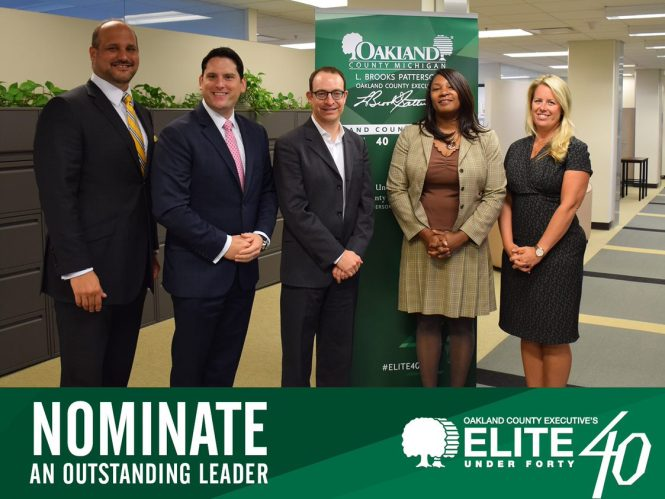 A group of Oakland County's Elite 40 under 40 members