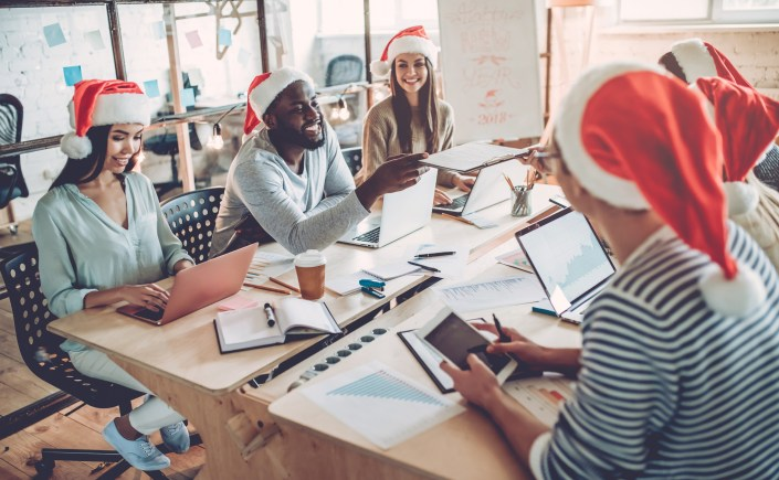 Celebrating Christmas in office