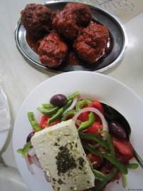 Tomatoballs and Horiatiki