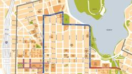 2018 Golden State Warriors NBA Champions Parade Map