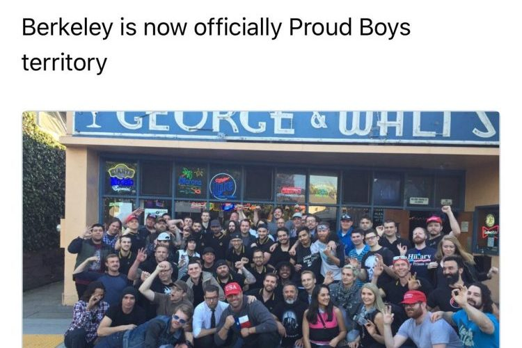 The Proud Boys, Racist Alt-Right Group, Plan Meeting At Oakland's Make Westing Bar For July 23rd