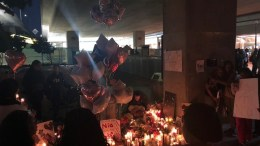 Vigil For Nia Wilson At Oakland Mac Arthur BART Station