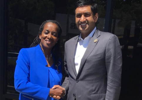 Jovanka Beckles and Ro Khanna