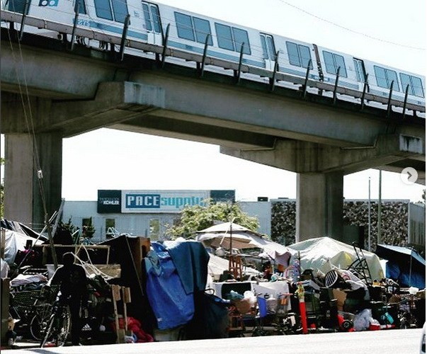 Oakland Homeless So Large In Number That Encampments Formed Under BART Train Tracks