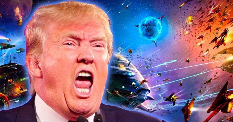 Trump Space Force (courtesy Movieweb)