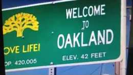 "Oakland ""Love Life"" Sign At Bancroft And College Stolen"