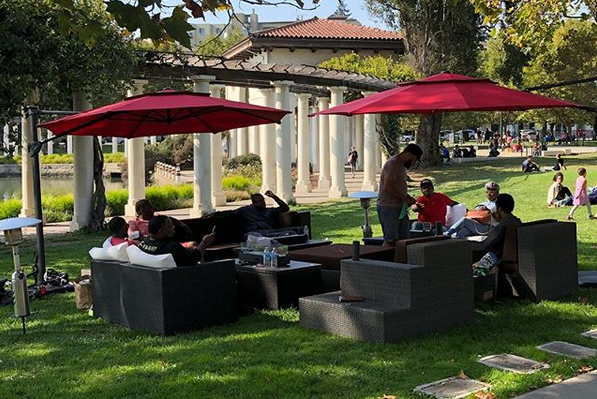 Oakland Lake Chalet Style Furniture At Lake Merritt On Labor Day 2018