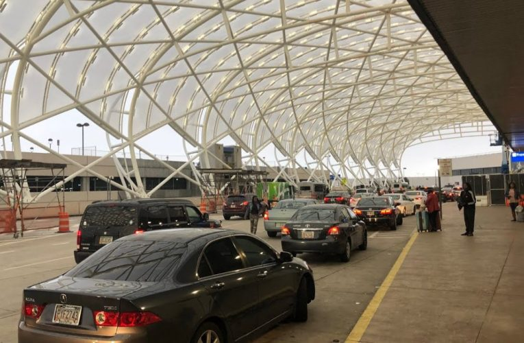 Atlanta Airport Canopy Covering Terminal Street All But Finished