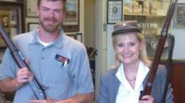 Cindy Hyde Smith in Confederate Hat with Gun