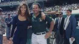 Elle Macpherson and Barry Weinberg At Oakland Coliseum