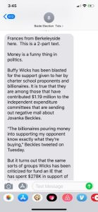 Beckles has moneyed corporate backing.