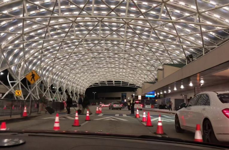 Atlanta Airport North Terminal Canopy At Night
