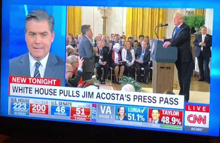 CNN's Jim Acosta's Press Pass Pulled By Trump White House