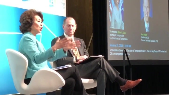 Chao at CES with Gary Shapiro