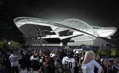 Oakland Raiders New Coliseum Stadum Seattle Style Design