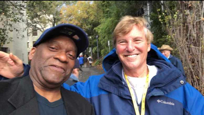 Zennie Abraham and Leigh Steinberg at Cal Stanford Big Game
