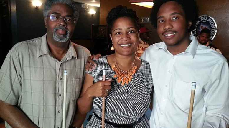 Victor McElhaney Celebrating his 21st Birthday with his mom Councilmember Lynette McElhaney and father Clarence McElhaney at Luca's Taproom in Oakland
