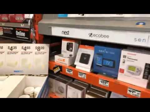 At Home Depot Fayetteville GA With Question About Home Smart Thermostats