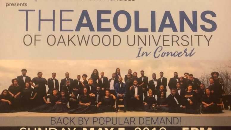 Aeolians Of Oakwood Concert In Sf May 5th At Third Baptist Church A Go After Bus Fire