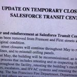 Maria Ayerdi Kaplan Salesforce Transit Center Temporary Closure Update As Of May 10 2019