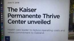 The Kaiser Permanente Thrive Center For Uptown Oakland
