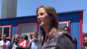 Mayor Libby Schaaf Oakland Opens 5th Community Cabin Site At West Oakland