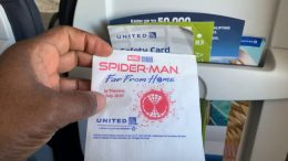 "United Airlines Promotes ""spider Man Far From Home"" On Flight Napkins"