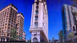 Uptown Oakland Panorama Photo At Peet's Coffee Mixes Old And New #z57