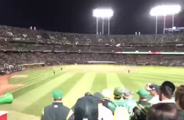 Tampa Bay Rays At Oakland Athletics 2019 MLB AL Wild Card Game At Oakland Coliseum – Final Out