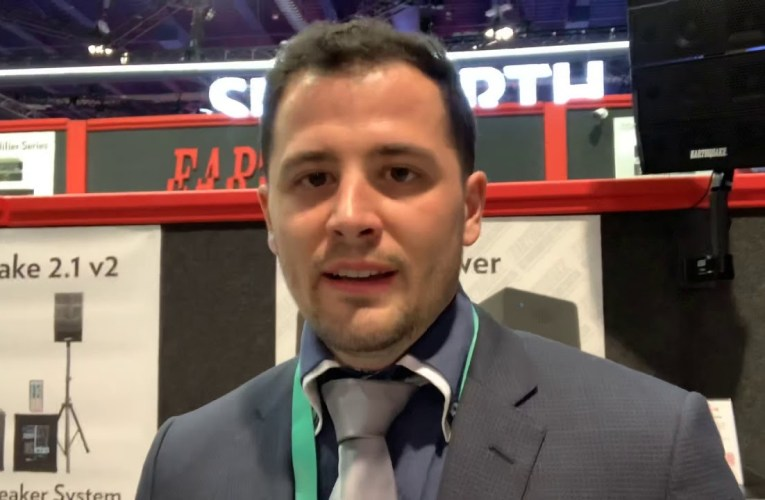 At CES Las Vegas 2020 Earthquake Sound's Alex Sahyoun Answers Chad Beverly's Question On YouTube