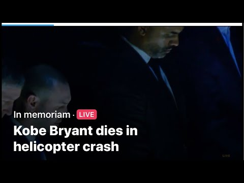 """""""Kobe Bryant Dies In Helicopter Crash"""" Is A Bad Dream I Woke Up To. Unbelievably Sad"""