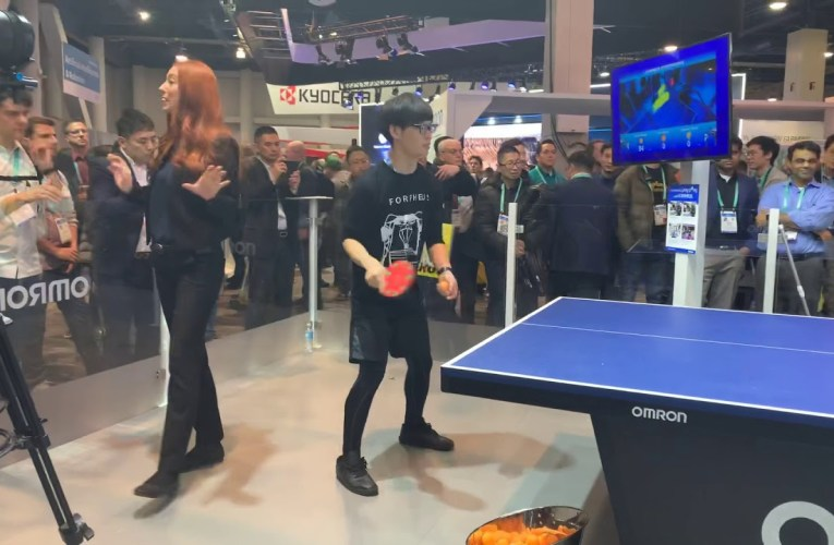 OMRON Robot Takes On Human In Table Tennis At CES Las Vegas 2020